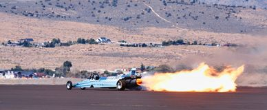 Speed Jet Dragster Flame Stock Photography