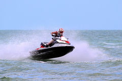 Speed jet-ski Stock Images