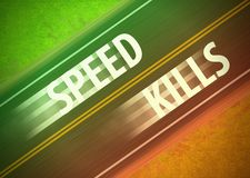 Speed Kills Speeding Beating Traffic Red Light Illustration Stock Photos