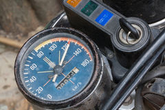 Speed, kilometer motorcycle Royalty Free Stock Images