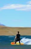Speed kiter in motion Stock Photo
