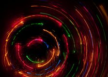 Speed of Light. Abstract chaos speed rays on dark background Royalty Free Stock Photo