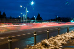 Speed of lights in the city Stock Photography