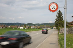Speed limit Stock Photos