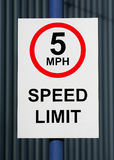 Speed limit. With 5 miles Royalty Free Stock Images
