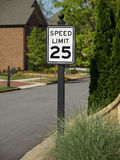 Speed Limit 25 Residential Stock Photos
