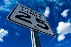 Speed Limit 25 Signage Royalty Free Stock Images