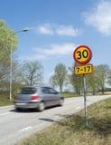 Speed Limit Stock Image