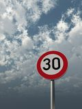 Speed limit Stock Photo