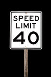 Speed Limit 40 Stock Images