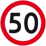 Speed limit stock illustration