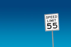 Speed Limit 55 stock image