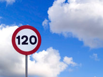 Speed limit Stock Image