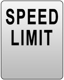 Speed limit. Sign isolated on white Royalty Free Stock Photo