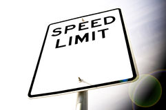 Speed Limit. A blank speed limit sign Stock Images