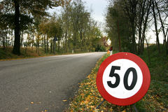 Speed limit horizontal Royalty Free Stock Images