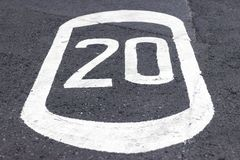 20 mph Royalty Free Stock Images