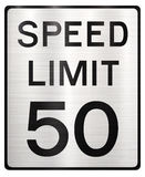 Speed limit 50 mph Royalty Free Stock Image
