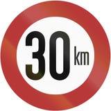 Speed Limit 1956 Stock Photos