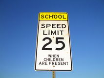 Speed Limit Road Sign Stock Photo