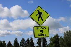 Speed Limit Road Sign Stock Photography