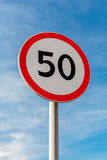 Street sign Speed limit. A road sign Speed limit stock photography