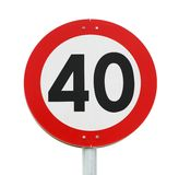 Speed limit 40 Royalty Free Stock Photography