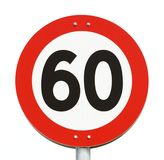 Speed limit 60 Stock Images