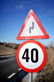 Speed limit sign Royalty Free Stock Photos