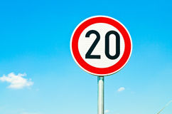 Speed limit sign Stock Image