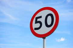 Free Speed Limit Sign Stock Photography - 41924882