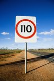 Speed limit sign Royalty Free Stock Images