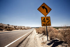 Speed limit sign in Arizona Royalty Free Stock Photography