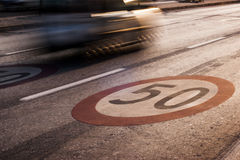 Speed limit 50 Royalty Free Stock Photography