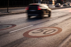 Speed limit 50 Royalty Free Stock Image