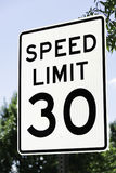 Speed Limit 30 Sign Stock Photo