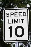 Speed Limit Sign - 10 Royalty Free Stock Image
