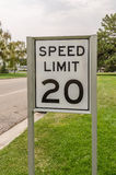Speed Limit 20 Sign Stock Image