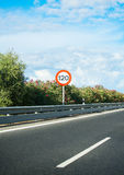 Speed limit sign. Royalty Free Stock Photos