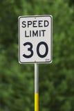 Speed Limit 30 Stock Photo