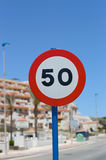 Speed limit sign Stock Photography