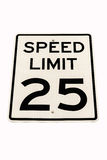 Speed limit sign isolated Royalty Free Stock Image