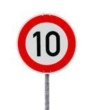 Speed limit sign 10 Stock Images