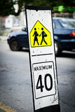Speed limit sign near school Stock Image