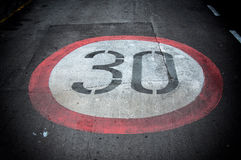 Speed limit Stock Photography
