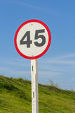 Speed limit sign on road Royalty Free Stock Photography