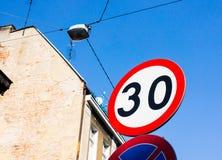 Speed limit Stock Photos