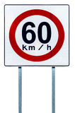 Speed limit sign royalty free stock photo