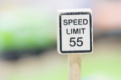 Speed Limit sign Wooden Toy Set - Play set Educational toys for. Preschool indoor playgroundselective focus stock photography