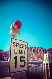 Speed limit 15 Royalty Free Stock Photography
